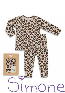 Feetje limited edition pyama 505.00045.1 Leopard Lou peach wintercollectie 2020 kinderboetiek simone