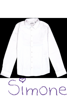 Crush Denim blouse 71811301 white wintercollectie 2018 kinderboetiek simone