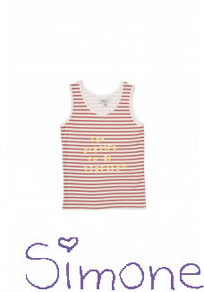 B&N top Mikki 771209 off white/rose stripe