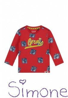 Quapi longsleeve Barry S201 flame red tiger zomercollectie 2020 kinderboetiek simone