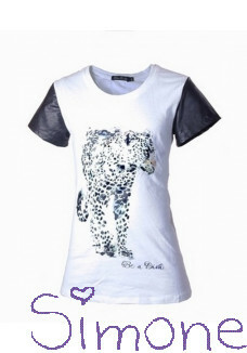 Be a Diva shirt Bauke white/black