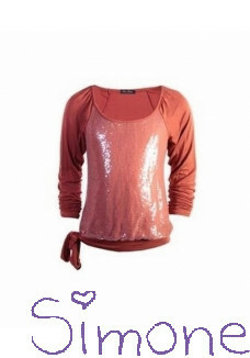 Be a Diva top Ilonka winter coral