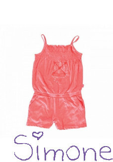 Cars jumpsuit Molly 3618664 coral zomercollectie 2016 kinderboetiek simone
