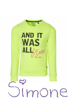 Quapi sweater Davita neon yellow wintercollectie 2020 kinderboetiek simone