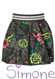 Quapi rok Desire black flower wintercollectie 2020 kinderboetiek simone