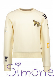 Like Flo sweater F102-5313-035 cream zomercollectie 2021 kinderboetiek simone