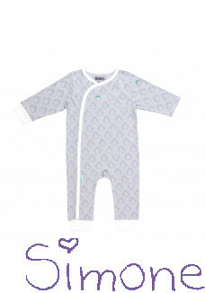 Binki jumpsuit B0401 grey penguin wintercollectie 2019 kinderboetiek simone