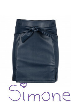 Kiestone fake leather rok KS6561 dark blue wintercollectie 2020 kinderboetiek simone