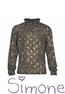 Kiestone blouse KS6683 gold-black flower wintercollectie 2020 kinderboetiek simone