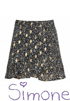 Kiestone rok KS6688 gold-black flower wintercollectie 2020 kinderboetiek simone