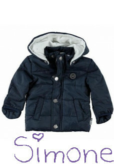 Le Chic jas E5070209-190 blue navy wintercollectie 2015 kinderboetiek simone