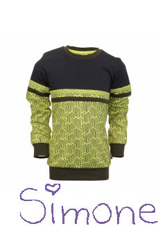 Legends22 sweater Sebastian LGND-20-609 yellow neon/dark blue wintercollectie 2020 kinderboetiek simone
