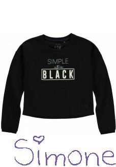 Levv cropped sweater Dewi black wintercollectie 2019 kinderboetiek simone