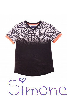 Legends22 shirt LGND-19-143 Alphabet white/black zomercollectie 2019 kinderboetiek simone