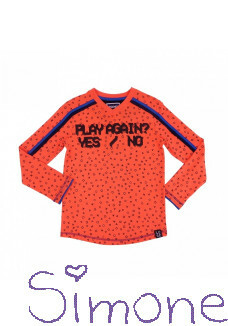 Legends22 longsleeve LGND-19-237 orange neon play again ? wintercollectie 2019 kinderboetiek simone