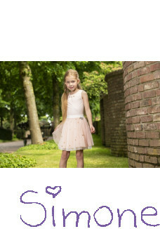 LoFff jurk Z8384-02 Antoinette strawberry/off-white/flowers zomercollectie 2020 kinderboetiek simone