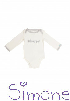 Binki romper long sleeve star white wintercollectie 2019 kinderboetiek simone
