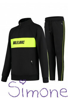 Malelions junior MJ-AW20-2-3 sport Uraenium Tracksuit - Black/Neon Yellow wintercollectie 2020 kinderboetiek simone