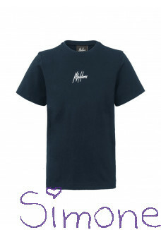 Malelions t-shirt MJ-AW20-1-5 junior small signature blue navy