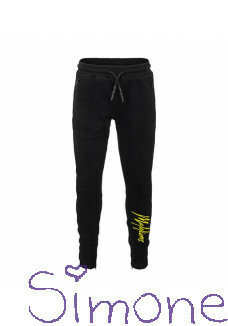 Malelions trackpants MJ-AW20-1-2 signature black yellow wintercollectie 2020 kinderboetiek simone