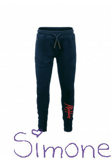 Malelions trackpants MJ-AW20-1-2 signature blue-navy koraal wintercollectie 2020 kinderboetiek simone
