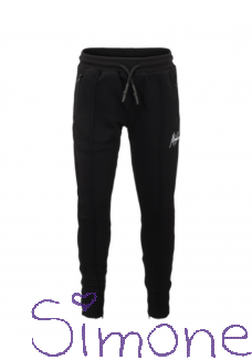 Malelions Junior Trackpants Clarence MJ-SS21-1-08 black/white zomercollectie 2021 kinderboetiek simone