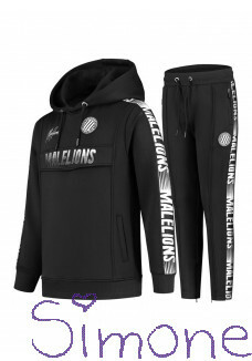 Malelions tracksuit MJ-AW20-2-4 junior sport warming up black wintercollectie 2020 kinderboetiek simone