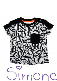 Legends22 mini shirt MLG2-19-110 alphabet black/white zomercollectie 2019 kinderboetiek simone