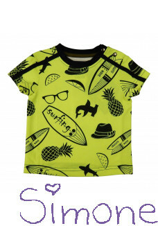 Legends22 mini shirt MLG2-19-115 surf baby SS yellow zomercollectie 2019 kinderboetiek simone