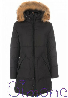 Dames Airforce jas OBW16W1601-RF-901 long parka true black wintercollectie 2016 kinderboetiek simone