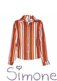Kiestone blouse PS6311 multicolour orange zomercollectie 2020 kinderboetiek simone