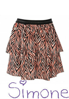 Kiestone rok PS6317 tiger orange zomercollectie 2020 kinderboetiek simone