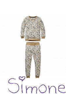 Quapi pyama Puck aop off white splash wintercollectie 2020 kinderboetiek simone