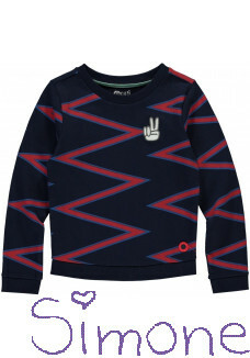 Quapi sweater Tasha navy ZZ stripe wintercollectie 2019 kinderboetiek simone