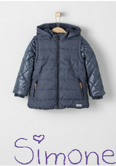 s.Oliver jas 64.608.51.6138 middle blue melange wintercollectie 2016 kinderboetiek simone