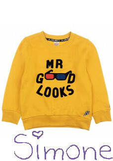 Sturdy sweater 716.00386 yellow mr goods looks popcorn power wintercollectie 2020 kinderboetiek simone