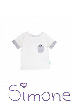 Binki shirt short sleeve star white wintercollectie 2019 kinderboetiek simone