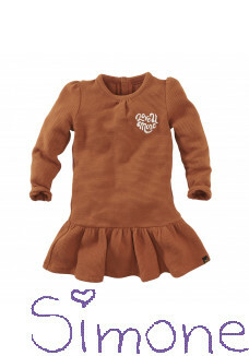 Z8 mini jurk Maitland copper blush wintercollectie 2020 kinderboetiek simone