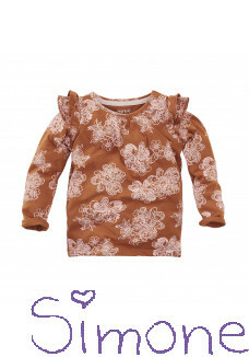 Z8 mini longsleeve Sunshine Coast copper blush/aop wintercollectie 2020 kinderboetiek simone