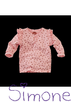 Z8 newborn shirt Miami soft pink dots wintercollectie 2020 kinderboetiek simone
