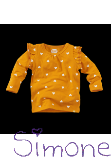 Z8 newborn shirt San Diego ginger gold/aop wintercollectie 2020 kinderboetiek simone