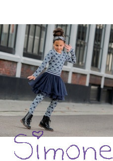 LoFff jurk Z8208-04 dancing dress dots dark blue off white silver wintercollectie 2019 kinderboetiek simone