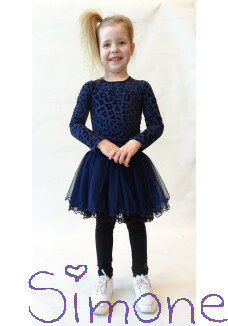 LoFff jurk Z8266-01 panther dancing dress dark blue/black wintercollectie 2019 kinderboetiek simone