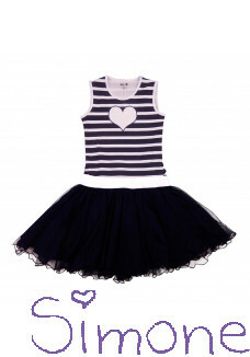 LoFff jurk dancing dress Z8311-05 blue stripes zomercollectie 2020 kinderboetiek simone