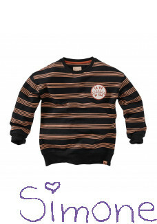 Z8 sweater Lou beasty black/stripes zomercollectie 2021 kinderboetiek simone