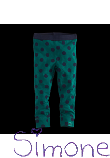 Z8 limited edition legging Nicola bottle green/navy/dots wintercollectie 2019 kinderboetiek simone