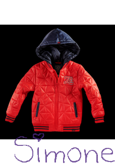 Z8 jas Betto red pepper wintercollectie 2018 kinderboetiek simone